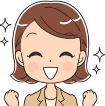 女性イラスト-笑顔(左)