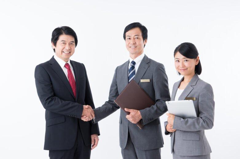 職場見学-握手