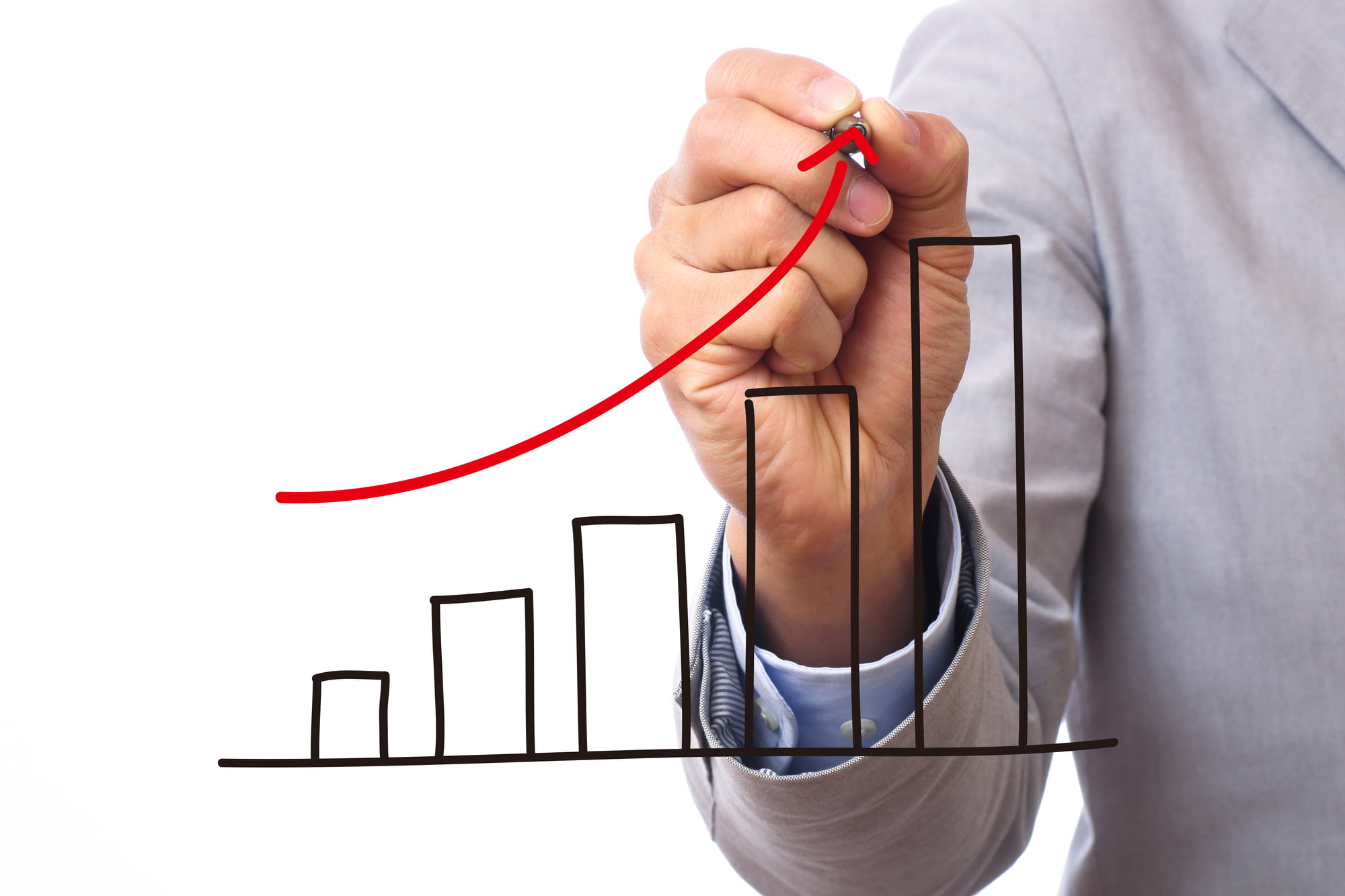 派遣-派遣会社の売上のグラフ