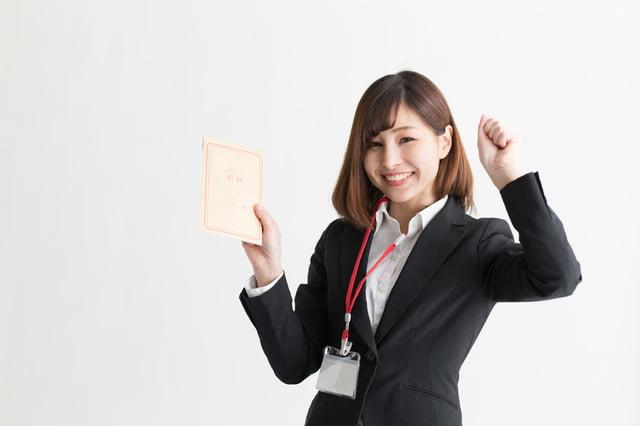 スーツ・女性(白バック)