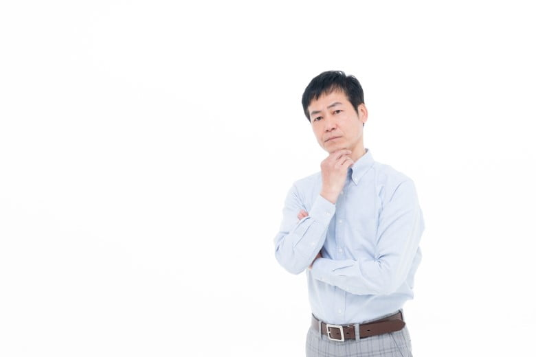 派遣-悩む 男性