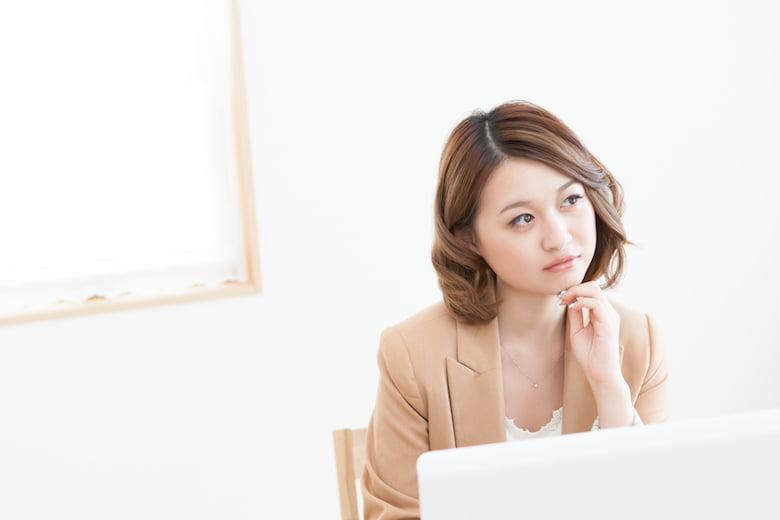 女性-パソコン-はてな