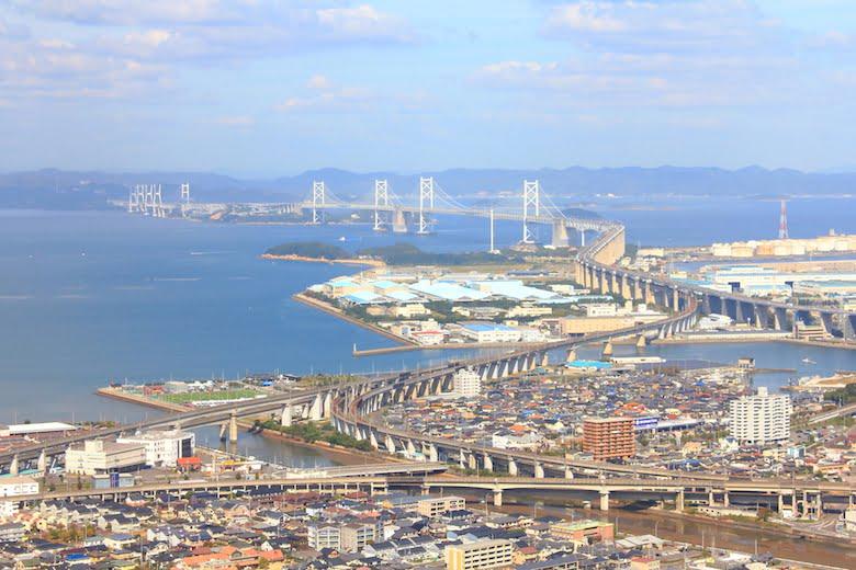 香川県の瀬戸大橋