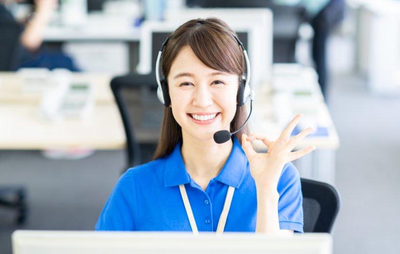 派遣ーコールセンター女性ー笑顔